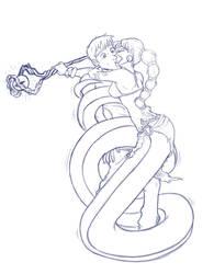 Naga Kiss_Sketch by D-E-I-S-I