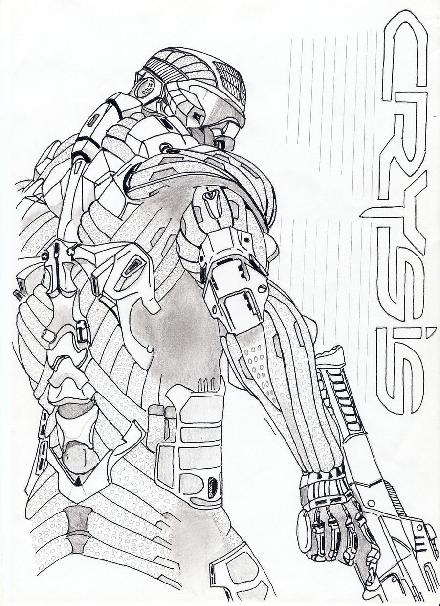 Crysis cover draw by