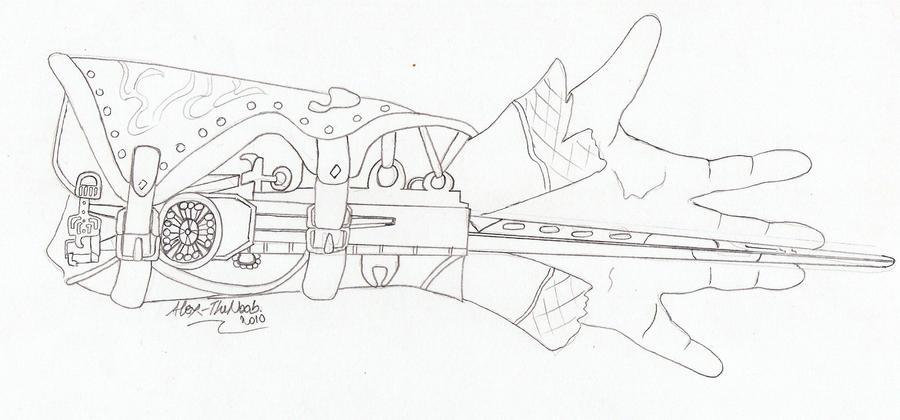 zunitvene  schematics for hidden blade