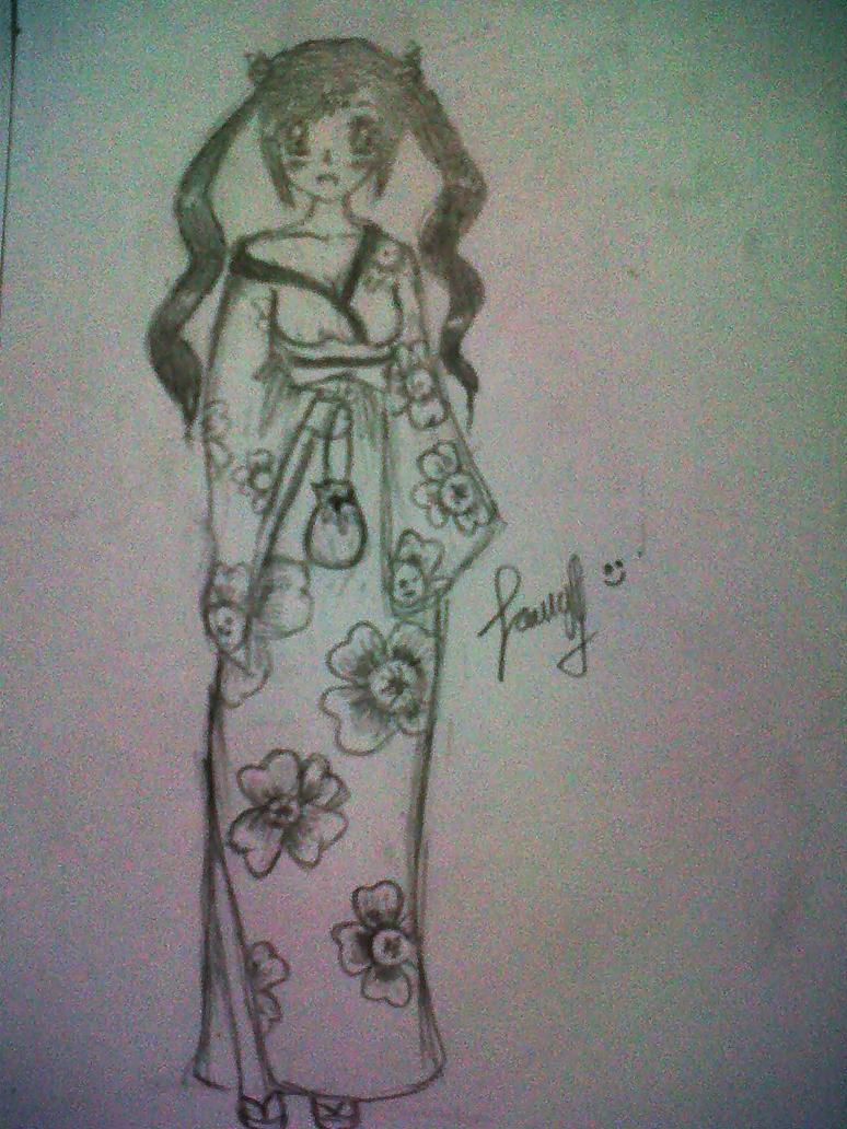 Kimono Girl by Purplecious