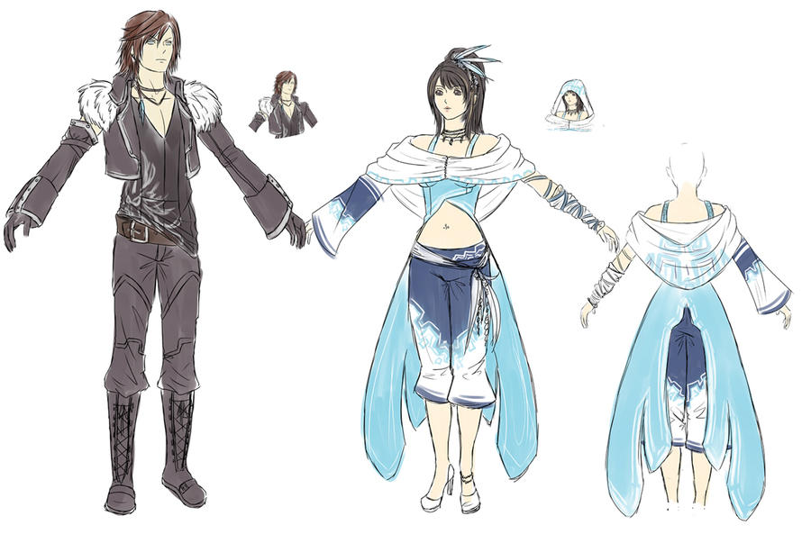 Squall And Rinoa Story Rinoa And Squall Alt Costumes