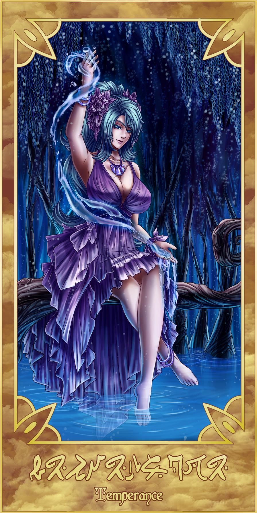 Xiv Temperance Balance Archangel Zadkiel: Tarot:Temperance (XIV)- Naia By Furesiya On DeviantArt