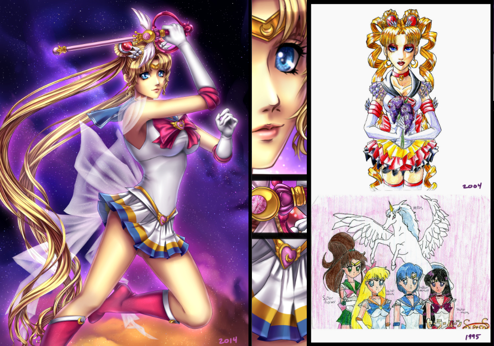 Sailor Moon: Through the Years by furesiya