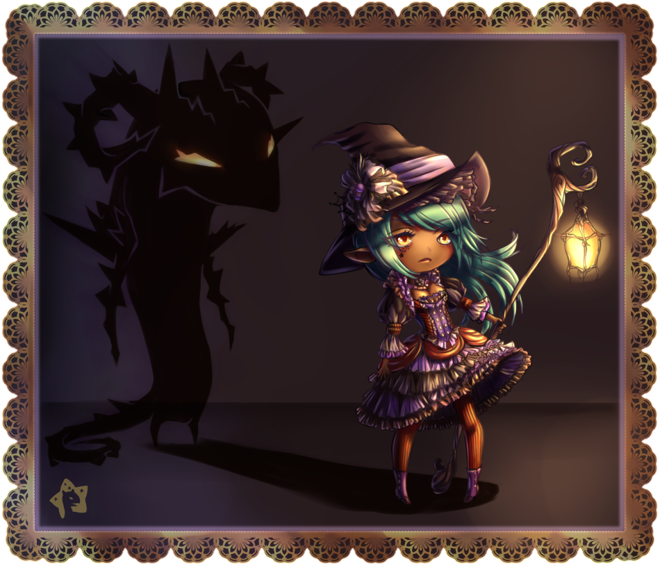 (open) Lantern Witch adopt- Bramble-REDUCED price by furesiya