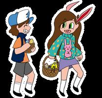 Happy Easter from Gravity Falls by TheNightmareGirls