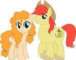 MLP Vector - Pear Butter and Bright Macintosh