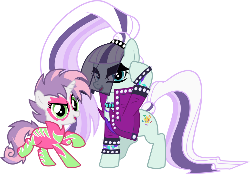 MLP Vector - Countess Coloratura and Sweetie Belle