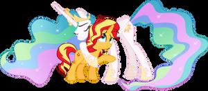 MLP Vector - Princess Celestia and Sunset Shimmer