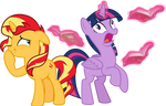 MLP Vector - Sunset Shimmer and Twilight Sparkle