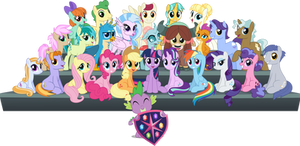 MLP Vector - The Class of Friendship