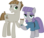 MLP Vector - Mudbriar and Maud Pie