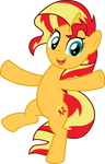 MLP Vector - Sunset Shimmer #4