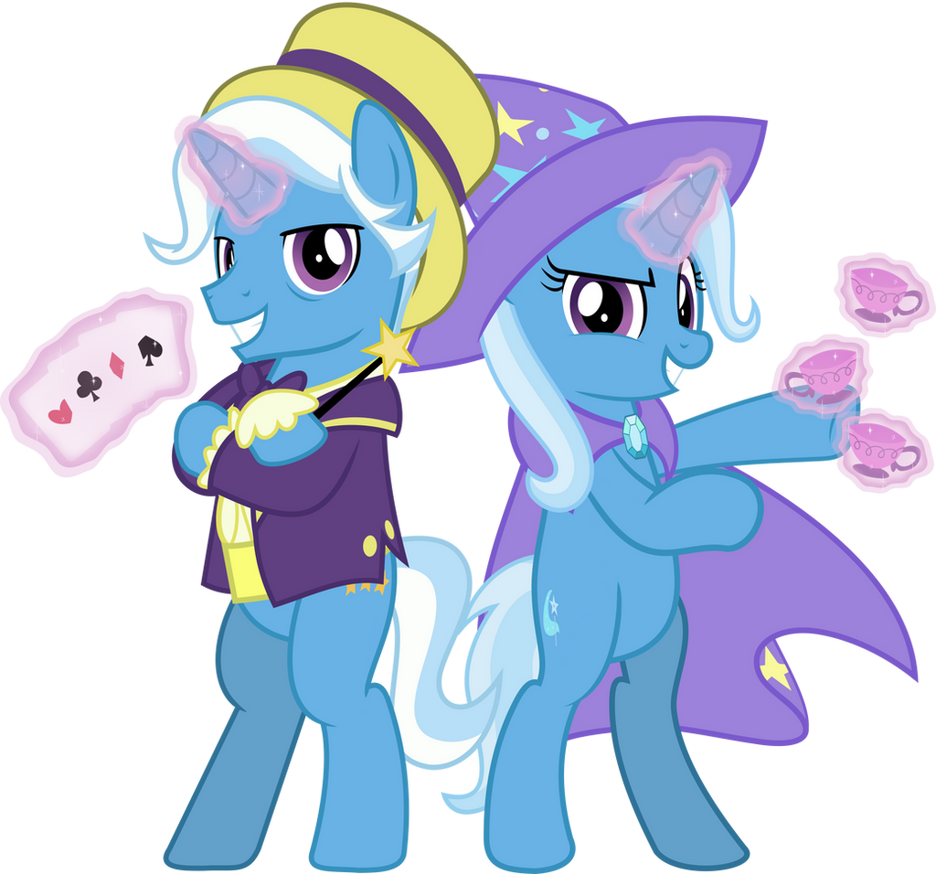 MLP Vector - Jackpot and Trixie by jhayarr23