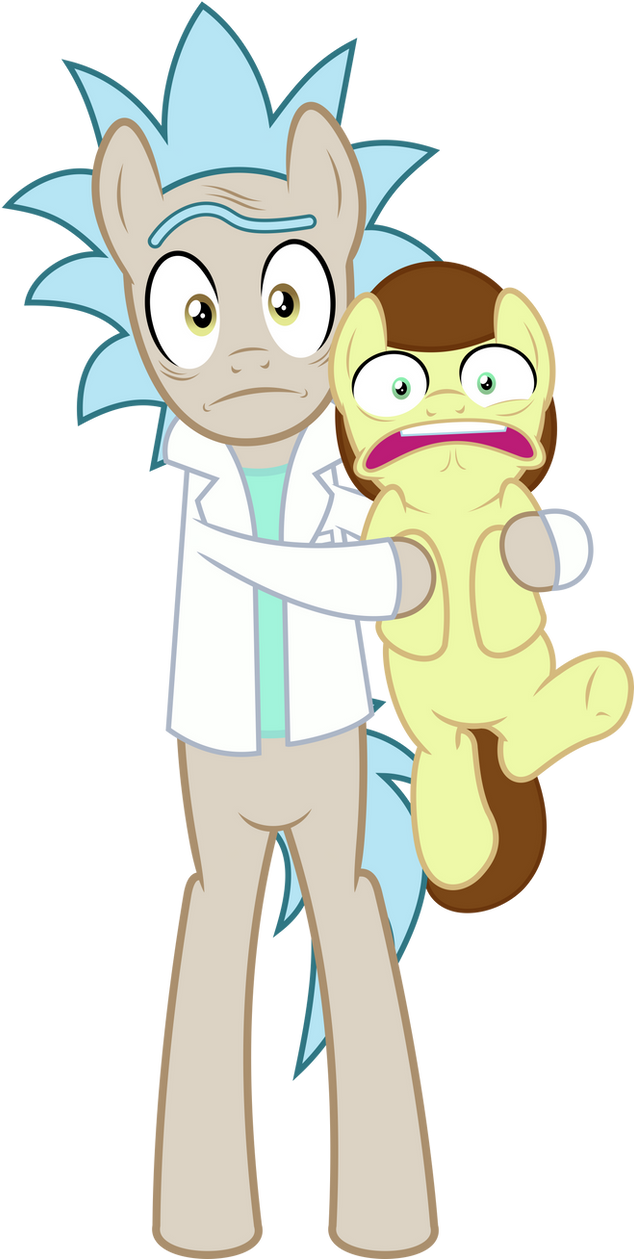MLP Vector - Rick and Morty by jhayarr23