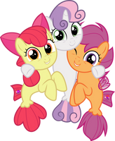 MLP Vector - Cutie Mark Crusaders #4 by jhayarr23