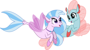 MLP Vector - Seapony Silverstream and Ocellus