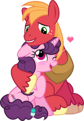 MLP Vector - Big Mac and Sugar Belle by jhayarr23