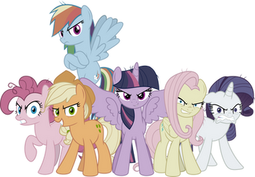 MLP Vector - The Mean Six by jhayarr23