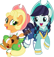 MLP Vector - Apple Chord and Coloratura by jhayarr23