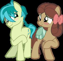 MLP Vector - Sandbar and Yona (The Pony) by jhayarr23
