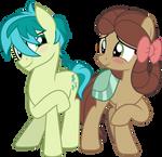 MLP Vector - Sandbar and Yona (The Pony)