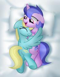 Comm: Snuggling Besties by jhayarr23
