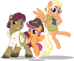 MLP Vector - The Adventuring Parents by jhayarr23
