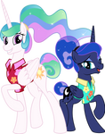 MLP Vector - The Princesses in Vacation