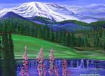 Mountain Trees Flower Elements