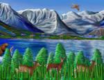 Mountains Lake Wildlife