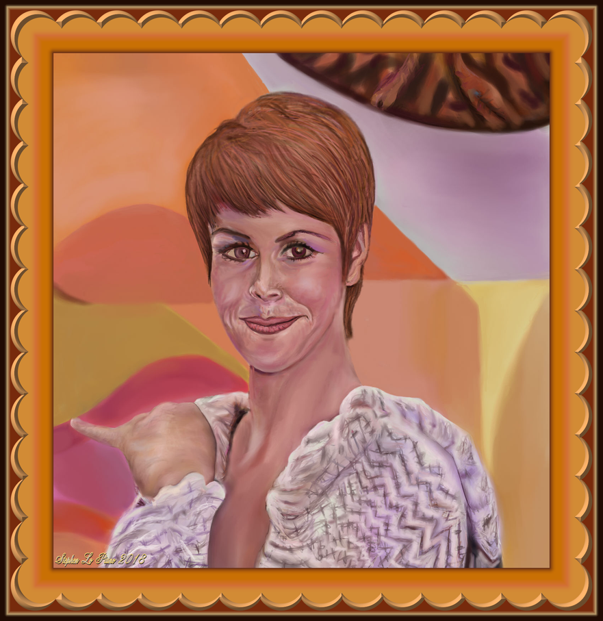 Judy Carnes (Second Attempt) with Custom Frame by StephenL