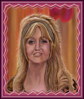 Goldie Hawn Portrait with Digital Custom Frame