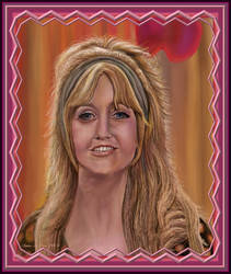 Goldie Hawn Portrait with Digital Custom Frame by StephenL