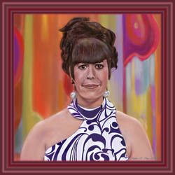 Jo Anne Worley with Custom Digital Frame by StephenL