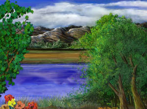Art Rage 6 First Completed Landscape Painting