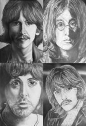 The Beatles drawings, tiled