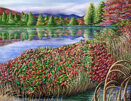 Digital Landscape Painting by StephenL