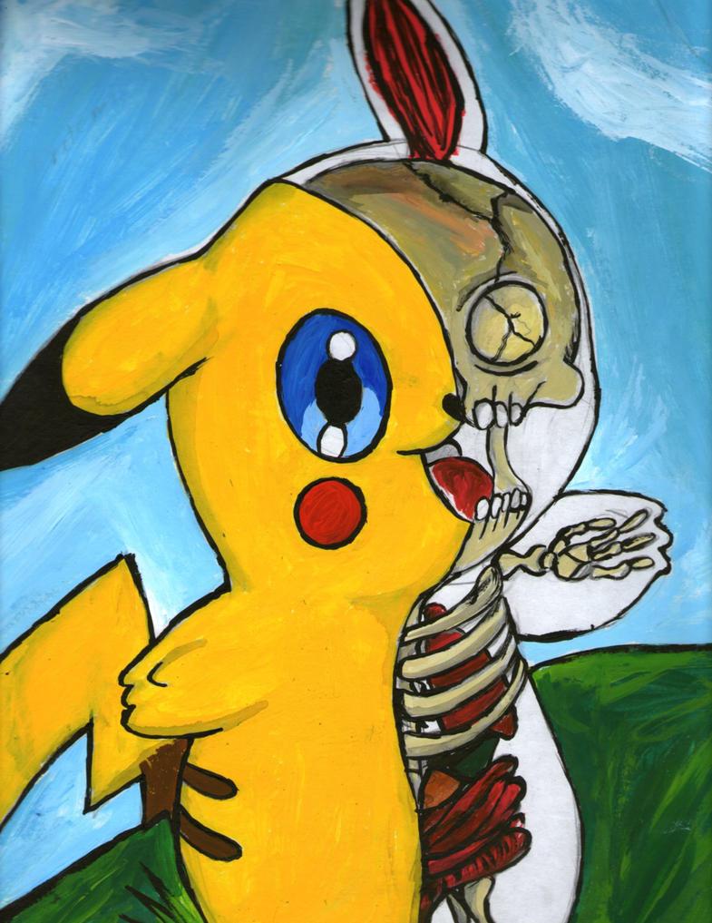 pikachu anatomia by eyebloodjoker on DeviantArt