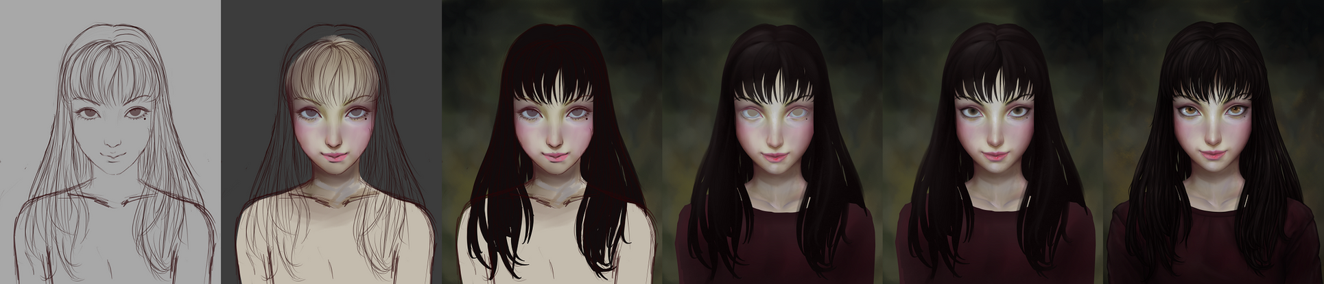 Tomie - Process by Neideen