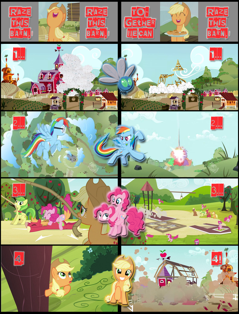 Together we can Raze this Barn...! by SkycatcherEquestria