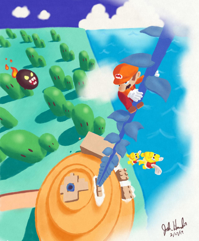 Super Mario Bros  3 - World 5 Tower by PresentDayJosh on DeviantArt