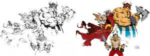 Asterix coloreado digital