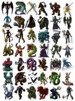 Algadon Monsters by LeeSmith