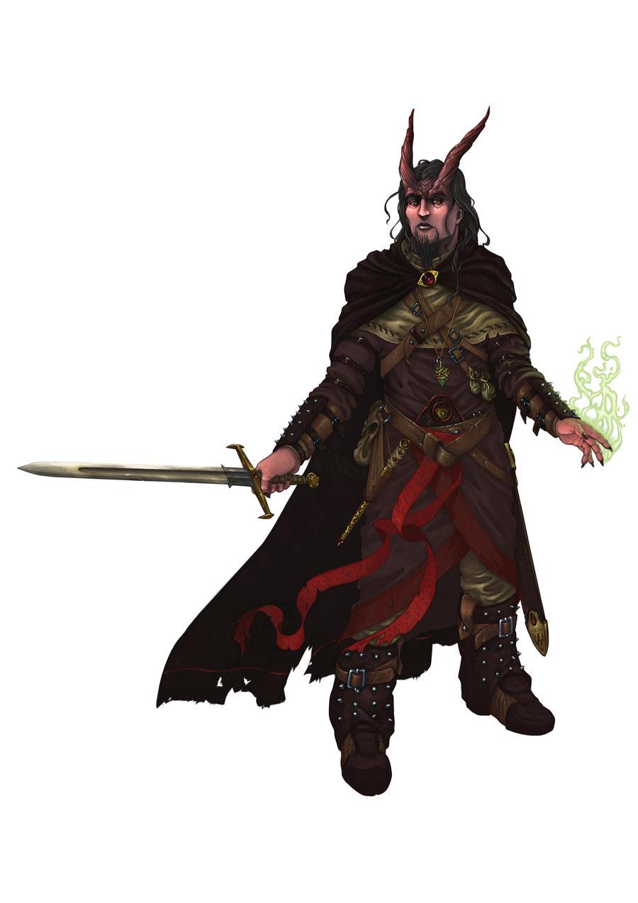 Malice - Tiefling Warlock by LeeSmith