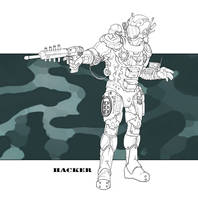 Future Military - Hacker by LeeSmith
