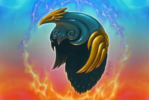 Animus: Helmet of Caladrius by LeeSmith