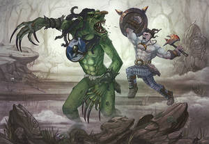 Dungeons and Dragons - Half Orc Outlander