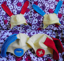 Plusle and Minun Hats by SmileAndLead