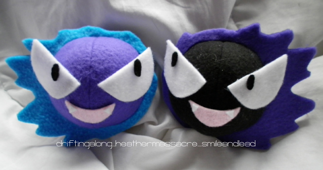 Gastly Twin Plush by SmileAndLead