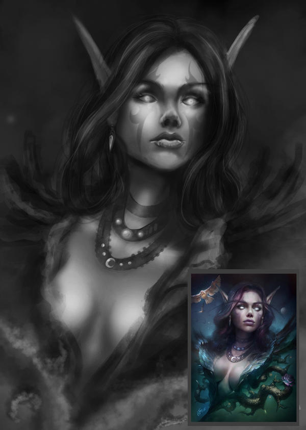 Study of TamplierPainter's 'Night Song' by Rei-Does-Art-Stuff